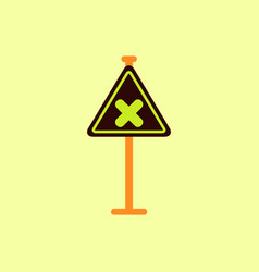awareness sign with an x sign road symbol vector image