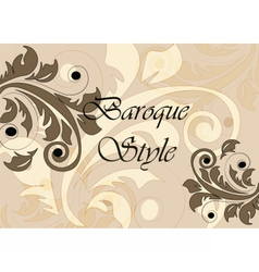 Baroque Classic style background vector image