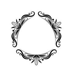 black triangular classic vintage frame vector image
