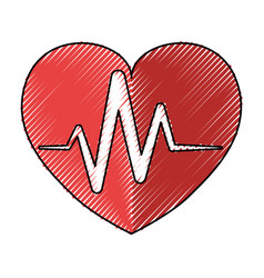 Cardiology medical symbol vector
