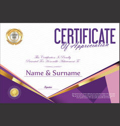 Certificate retro design template 14 vector