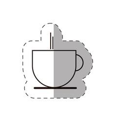 coffee cup beverage hot line vector image