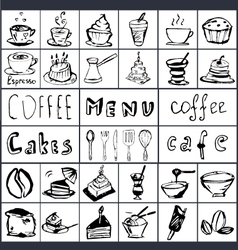 Coffee hand draw 2 vector image