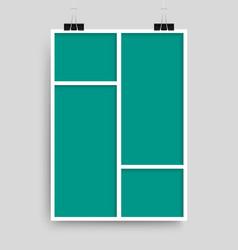 Collage ten frames for photo or vector