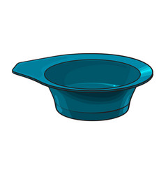 Color mixing plastic hairdresser bowl sketch vector