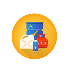 Combustible hazardous waste icon vector