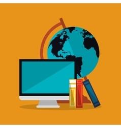 computer world icon vector image