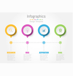 creative concept business data for infographic vector image
