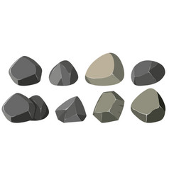 Different shapes of rocks vector