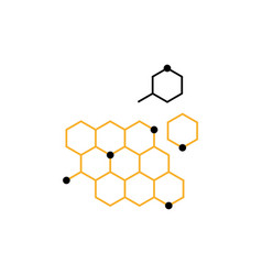 dna honeycomb icon vector image