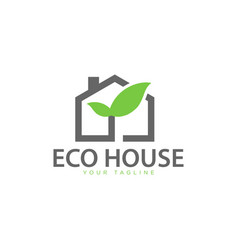 eco friendly green house logo vector image
