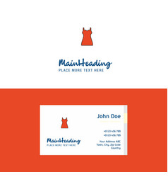 flat girls skirt logo and visiting card template vector image
