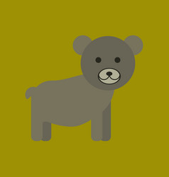 Flat icon stylish background cartoon bear vector