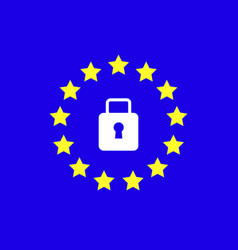 Gdpr - general data protection regulation vector