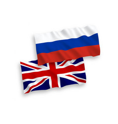 great britain and russia flags vector image