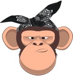 Happy monkey vector