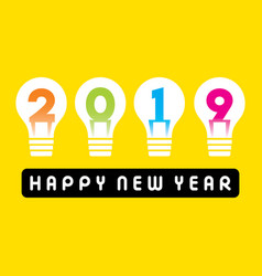 happy new year 2019 greeting design vector image