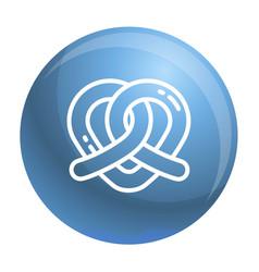 Heart pretzel icon outline style vector