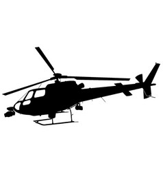 helicopter with cameras silhouette vector image