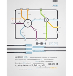 Infographics subway in old style vector