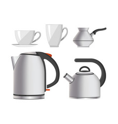 kettle kitchen tableware modern home appliance vector image