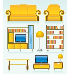 living room furniture vector image vector image