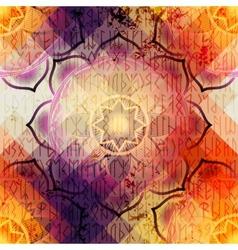 Mandala symbol seamless pattern vector image