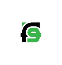 monogram or logotype f9 - design element or icon vector image
