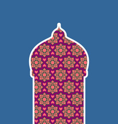Mosque isolated arab pattern madrasah for eid vector