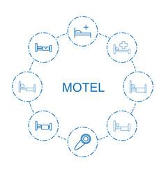 Motel icons vector
