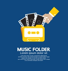 Music Folder vector image