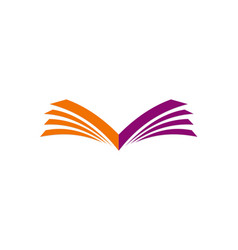 Open book letter v logo vector