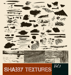 pack textures and strokes and textures vector image