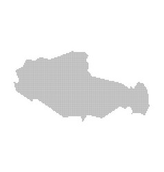 Pixel map of tibet dotted map of tibet isolated vector