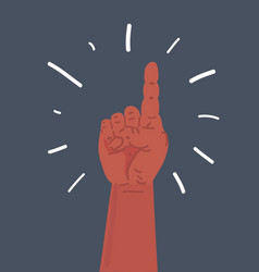 pointing finger number one hand sign vector image