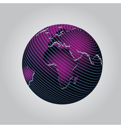 Purple communication globe icon grid design vector