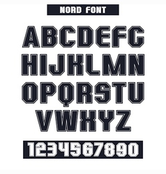 Sans serif font with the contours vector image