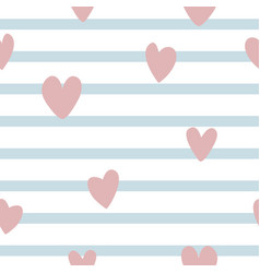 seamleass pattern with simple hearts vector image