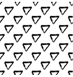 seamless pattern with brush triangle and vector image