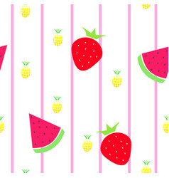 Seamless tileable texture with fruits vector