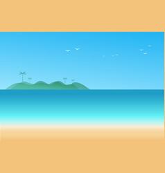 seascape background vector image