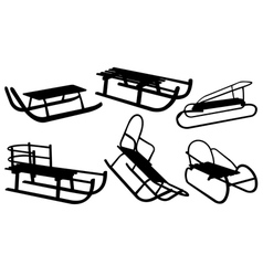 sled vector image vector image