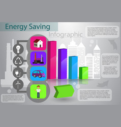 smart energy use infographic concept vector image