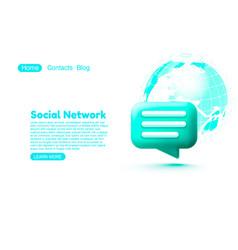 social network chat bubble talk dialogue vector image