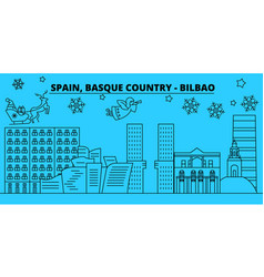 Spain bilbao basque country winter holidays vector
