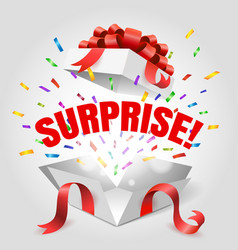 Surprise open gift box vector