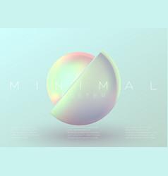 trendy minimal poster pastel vibrant background vector image