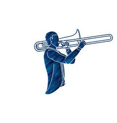 Trombone musician orchestra instrument vector