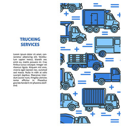 Trucking services banner template with different vector