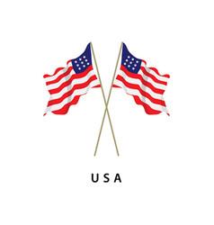 Usa flag template design vector